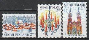 1997 Finland - Sc 1062-4 - MNH VF - 3 single - Christmas