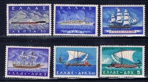 Greece MLH 1958 Ships complete set