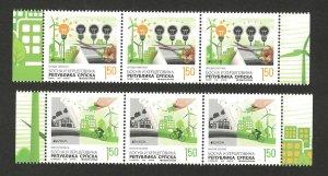 BOSNIA-SERBIA-MNH**  STRIP-EUROPA CEPT-THINK GREEN 2016.