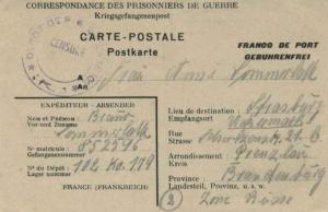 France P.O.W. Free Mail 1946 [Depot 102] Correspondance des Prisonniers de Gu...