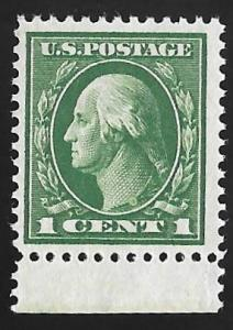 405 1 cent Washington, Green Stamp mint OG NH F