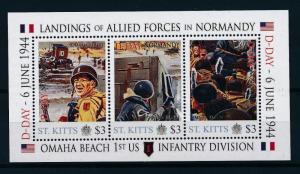 [81027] St. Kitts 2011 Second World war D-day Invasion Normandy Sheet MNH