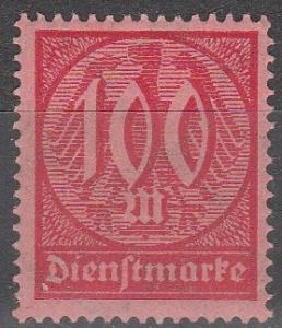 Germany #O21 F-VF Unused