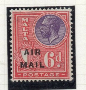 Malta 1928 Early Issue Fine Mint Hinged 6d. Air Mail Optd 321596