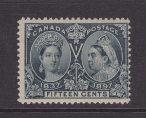 Canada Sc 58 MLH. 1897 15c steel blue Jubilee F-VF