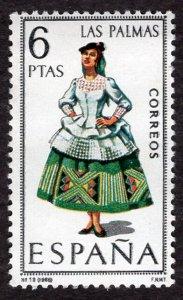Spain 1968 Regional Women Costumes Las Palmas 6p. Scott.1410 (#2)