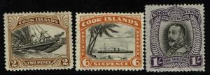 Cook Islands SG# 139 Mint Hinged, HR, 142 & 143 Mint Lightly Hinged - Lot 021917