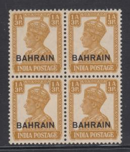 Bahrain    #42  block  mnh   cat $26.00
