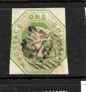 GREAT BRITAIN  1847-54  1/-  GREEN    QV    FU    SG 55