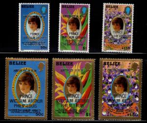 BELIZE Scott 628-633 MNH** Princess Diana set