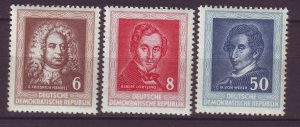 J24124 JLstamps 1952 germany DDR set mhr #100-2 famous people