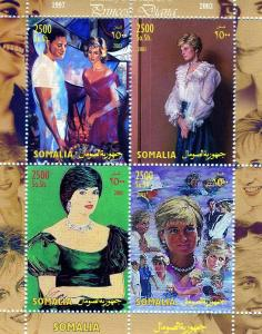 Somalia 2003 PRINCESS DIANA Sheet (4) Perforated Mint (NH)