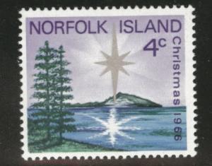 Norfolk Island Scott 99 MNH** 1966 Christmas stamp