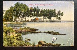 1930 Costa Rica Picture Postcard Cover To Condor NY USA Piuta Ocean Bathing