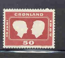 Greenland Sc 69 1967 Royal Wedding stamp mint NH