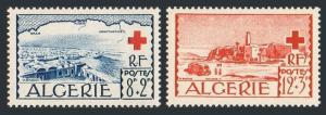 Algeria B67-B68,lightly hinged. Red Cross 1952.View of El Oued.Map,truck.