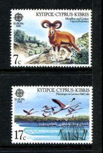 Cyprus 669-670, MNH, 1986 Birds,  x22666