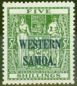 Western Samoa 1945 5s Green SG208 V.F MNH