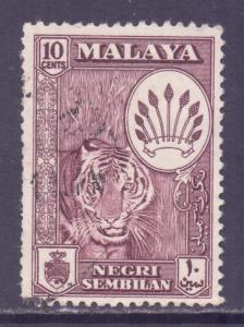 Malaya Negri Sembilan Scott 69 - SG74, 1957 Tiger 10c used