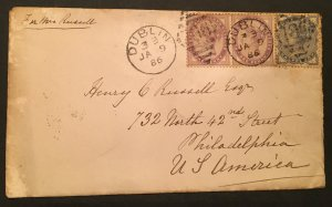 GB 89 Penny Lilac pair, GB 98 Half-penny, Precious Cover, Vic's Stamp Stash