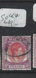 MALAYA PENANG  (P0704BB)  KGVI   40 C   SG 18   VFU