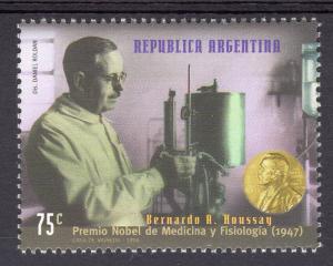 Argentina 1998 Sc#1985 Dr.Bernardo Houssay Nobel Prize Winner 1947 Set(1) MNH