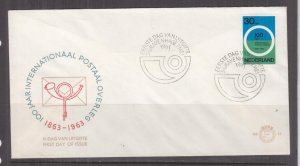 NETHERLANDS, 1963 Postal Conference 30c. on First Day cover.