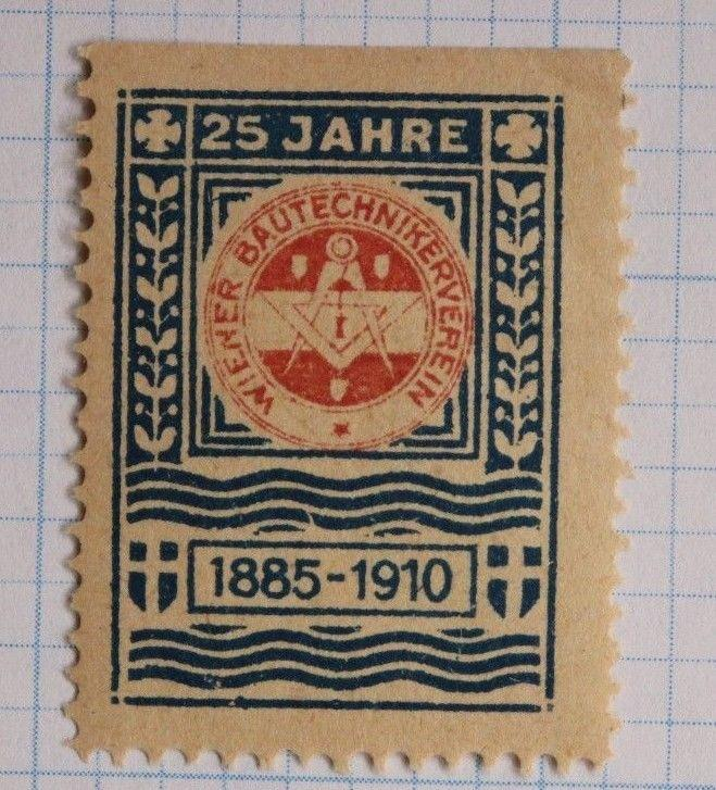 Construction engineer trade association Wiener 1885-1910 club 25th yr seal MNH