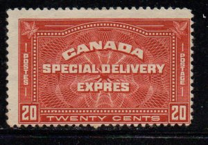 Canada Sc E4 1930 20c henna brown Special Delivery stamp mint