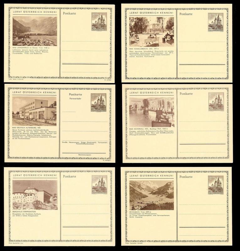 AUSTRIA (120) Scenery View Brown 1 Shilling Postal Cards c1950s ALL MINT UNUSED