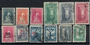 Turkey postally used collection of 12 stamps