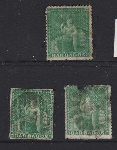 Barbados x 3 old Britannica