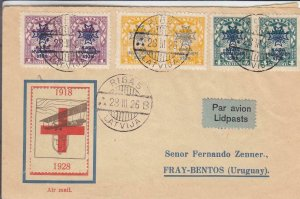 1926, 1st Flt., Riga, Latvia to Fray-Bentos, Uruguay (24488)