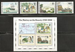 Norfolk Islands 452-6 1989 Bounty set and s.s. NH