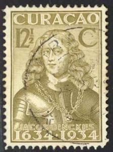 Netherlands Antilles Sc# 117 Used 1934 12.5¢ bister brn William Usselinx