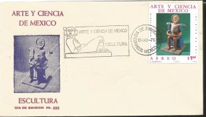 J) 1976 MEXICO, ART AND SCIENCE OF MEXICO, SCULPTURE, FDC