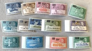 British Antarctic Territory 1971 surcharges, MNH set. Scott 25-38, CV $133.65