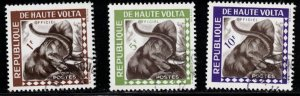 UPPER VOLTA Scott # O1-3 Used - Elephants