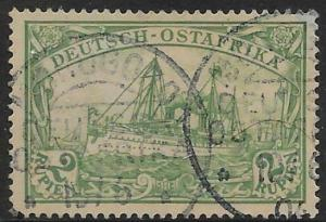 GERMAN EAST AFRICA SG24 1901 2r GREEN USED