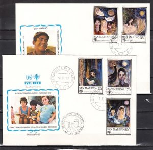 San Marino, Scott cat. 954-958. Year of Child issue. First day cover. ^