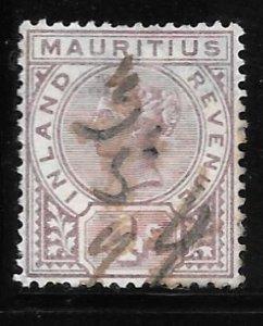 Mauritius Revenue: 4c Victoria, used, F-VF