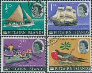 Pitcairn Islands 1964 SG36-39 Boats Bird FU