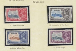SWAZILAND., 1935 Silver Jubilee set of 4, heavy hinged.