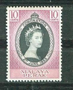 Malaya-Perak # 126 QE II Coronation (1)  Unused VLH