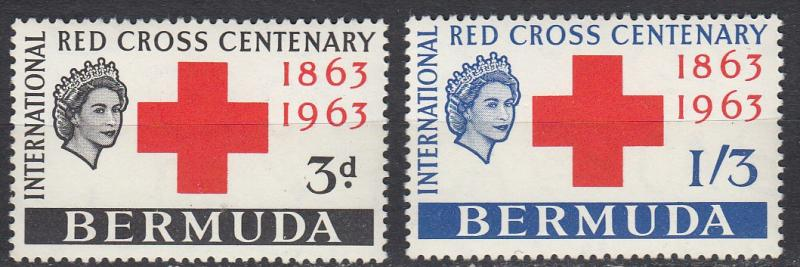 Bermuda - 1963 Red Gross Sc# 193/194 - MNH (1093)