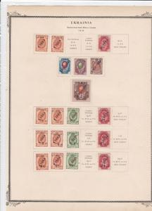 russian steam navigation & trading company overprint stamps on page ref r9113