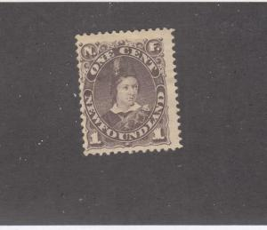 NEWFOUNDLAND # 43  FVF-MH 1cts  1896 EDWARD PRINCE OF WALES/ BROWN CAT VAL $100