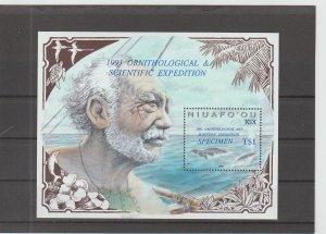 Niuafo'ou  Scott#  133 Specimen  S/S  (1990 Polynesian Whaling)