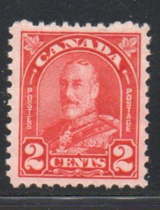 Canada Sc 165 1930 2c deep red  George V stamp mint NH
