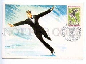 241420 FRANCE GRENOBLE 1968 year olympiad SKATING maxi-card